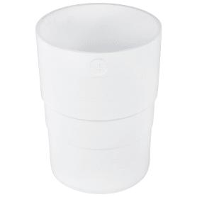 Муфта для водосточной трубы 82 мм цвет белый