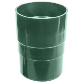 Муфта для водосточной трубы 82 мм цвет зелёный