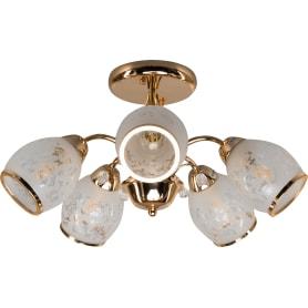 Люстра потолочная Eurosvet Валери 30026/5, 5 ламп, 25 м², цвет золото