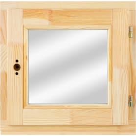 Окно деревянное 46х47 см, однокамерный стеклопакет