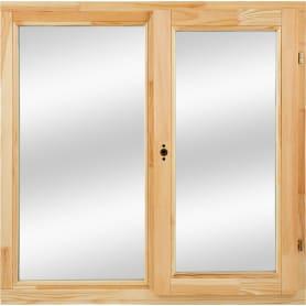Окно деревянное 100х100 см глухое/поворотное, однокамерный стеклопакет