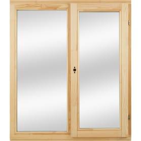 Окно деревянное 116х100 см глухое/поворотное, однокамерный стеклопакет