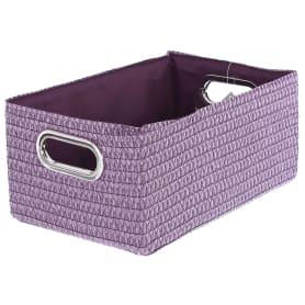 Короб без крышки L 34х16x22 см, плетенье, цвет лиловый