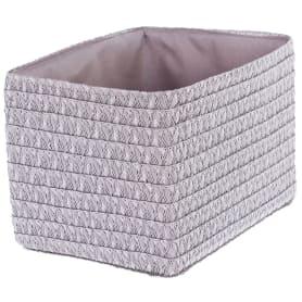 Короб без крышки S 21х16х16 см, плетенье, цвет серый