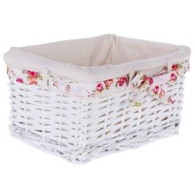 Корзина Ива с декоративным чехлом 30x16x21 см, плетенье цвет белый