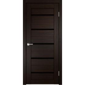 Дверь межкомнатная остеклённая Duplex 80x200 см, искусственный шпон, цвет венге