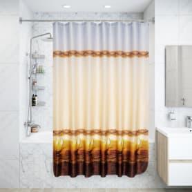 Штора для ванной комнаты «Парус» 180х180 см цвет бежевый