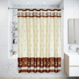 Штора для ванной комнаты «Якорь» 180х180 см цвет белый