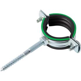 Хомут с резиновым уплотнителем и шурупом 39-46 мм