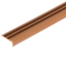 Порог угловой (угол) антискользящий 40х15х900 мм цвет орех