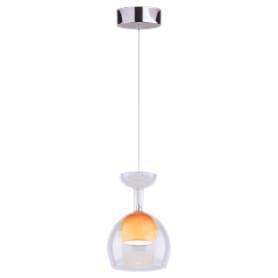 Подвес Lumin`arte Sunrise, LEDх5 Вт, 50 Лм, металл/стекло, цвет хром/прозрачный