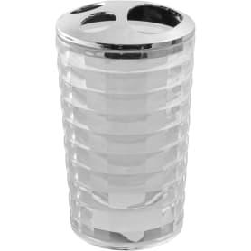Стакан для зубных щёток настольный Vidage «Корбу» пластиковый цвет прозрачный