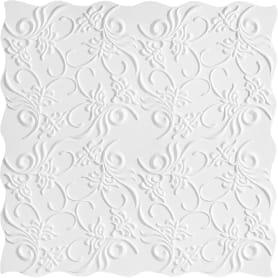 Плитка потолочная бесшовная полистирол белая Формат Нарцисс 50 x 50 см 2 м²