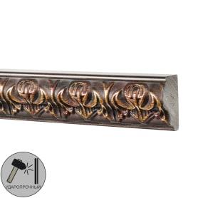 Молдинг настенный полистирол Decomaster 101В-966 коричневый 1.5х3.3х200 см
