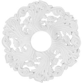 Розетка потолочная полиуретан Decomaster DR10 белая диаметр 50 см