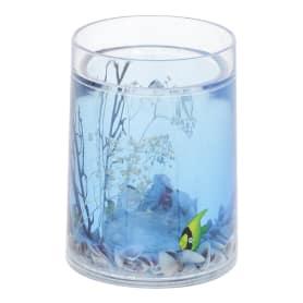 Стакан для зубных щёток Аквалиния «Морская рыбка» пластик цвет голубой
