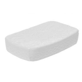 Мыльница настольная «Ажур» керамика цвет белый