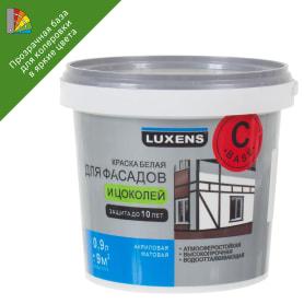 Краска для колеровки для фасадов и цоколей Luxens 0.9 л цвет прозрачный