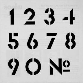 Трафарет «Цифры» 20х20 см