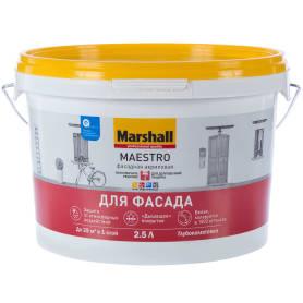 Краска для фасадов Marshall Maestro BW 2.5 л