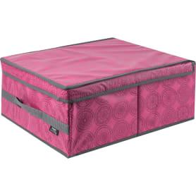 Коробка универсальная 35х18x45 см цвет бордовый