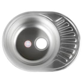 Мойка врезная 57х45 см цвет хром, нержавеющая сталь