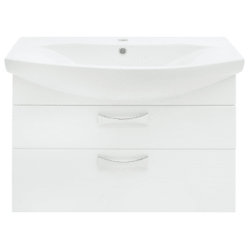 Тумба под раковину подвесная Aquaton «Адель», 80 см, цвет белый