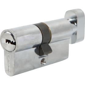 Цилиндр Palladium 60, 30x30 мм, ключ/вертушка, цвет хром