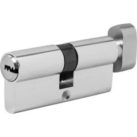 Цилиндр Standers ключ/вертушка 35х35 хром, TT-CAB820