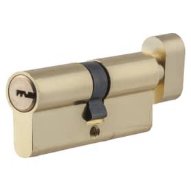 Цилиндр ключ/вертушка 35х35 золото, TT-CAB819