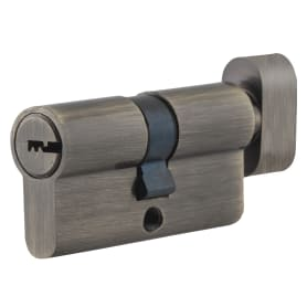 Цилиндр ключ/вертушка 30х30 бронза, TT-CAB818