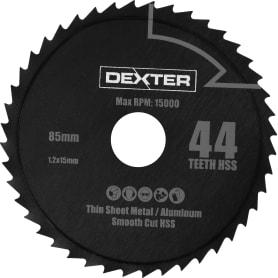 Диск пильный универсальный 85х15 мм Dexter RW9229, 44 Т