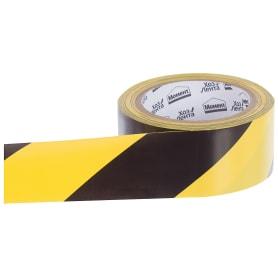 Лента хозяйственная разметочная Момент 50 мм, 25 м цвет жёлто-чёрный