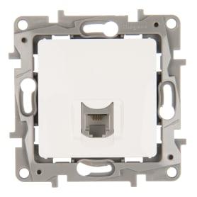 Телефонная розетка встраиваемая Legrand Etika RJ11, цвет белый