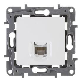Розетка компьютерная встраиваемая Legrand Etika RJ45, UTP cat 5, цвет белый