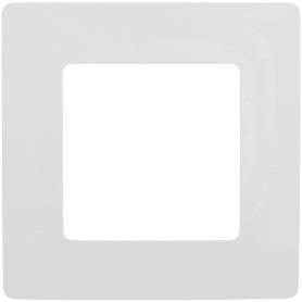 Рамка для розеток и выключателей Legrand Etika 1 пост, цвет белый