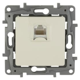 Розетка компьютерная встраиваемая Legrand Etika RJ45, UTP cat 5, цвет слоновая кость
