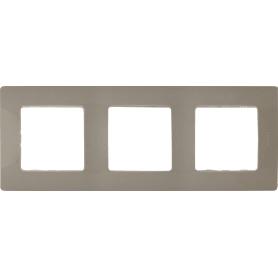 Рамка для розеток и выключателей Legrand Etika 3 поста, цвет светлая галька