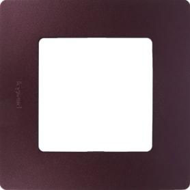 Рамка для розеток и выключателей Legrand Etika 1 пост, цвет слива