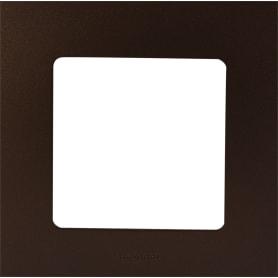 Рамка для розеток и выключателей Legrand Etika 1 пост, цвет какао