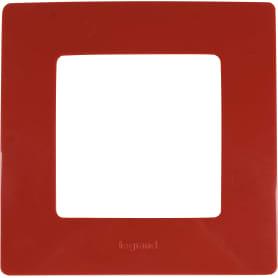 Рамка для розеток и выключателей Legrand Etika 1 пост, цвет красный