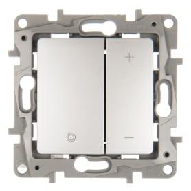 Диммер встраиваемый Legrand Etika 400 Вт (75 Вт LED) цвет алюминий