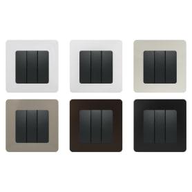 Выключатель Legrand Etika, 3 клавиши, цвет антрацит