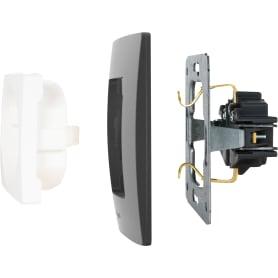Рамка для розеток и выключателей Legrand Etika 2 поста, цвет антрацит