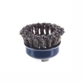Щетка для УШМ чашечная из крученой проволоки Dexter 75 мм