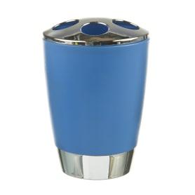 Стакан для зубных щёток настольный «Альма» пластик цвет синий