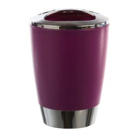 Стакан для зубных щёток настольный «Альма» пластик цвет фиолетовый