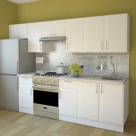 Шкаф навесной над вытяжкой «Рондо» 35х60 см, МДФ, цвет белый