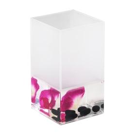 Стакан для зубных щёток настольный Verran «Phalaenopsis» акрил цвет розовый