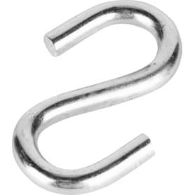 Крючок S-образный Standers 8х14.5 мм, сталь оцинкованная, цвет серебристый